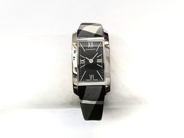 Burberry(バーバリー) 腕時計美品  BU1080 レディース チェック柄 黒