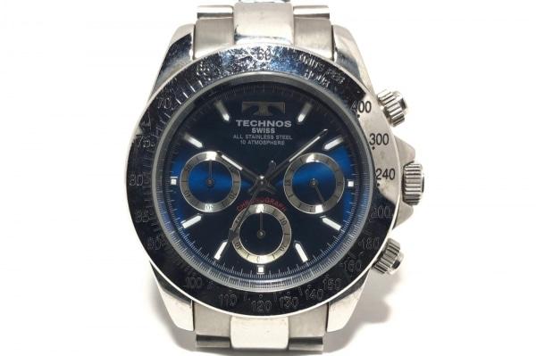 TECHNOS(テクノス) 腕時計 TGM615 メンズ クロノグラフ ブルー