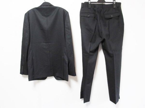 MEN'SBIGI(メンズビギ) シングルスーツ サイズ4 XL メンズ 黒 ストライプ