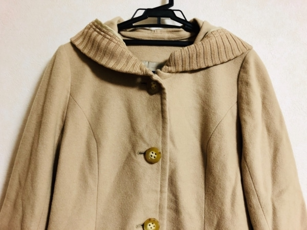 CARA O CRUZ(キャラオクルス) コート サイズ9 M レディース美品  ベージュ 冬物