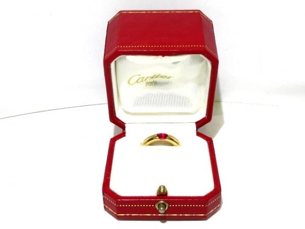 Cartier(カルティエ) リング 52美品  エリプスリング K18YG×ルビー レッド