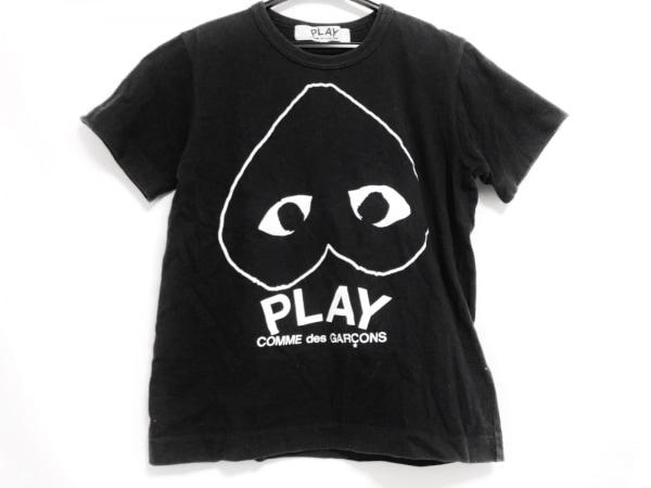 プレイコムデギャルソン 半袖Tシャツ サイズM レディース 黒×アイボリー