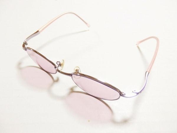 OLIVER(オリバーバレンチノ) サングラス ピンク×シルバー プラスチック×金属素材