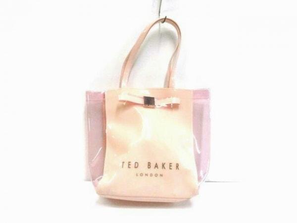 TED BAKER(テッドベイカー) トートバッグ ベージュ×ピンク リボン ビニール