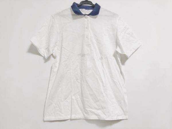クリスチャンディオールスポーツ 半袖ポロシャツ サイズM レディース 白×ネイビー