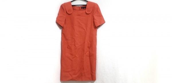 ピエールカルダン ワンピース サイズ9 M レディース オレンジ 肩パッド