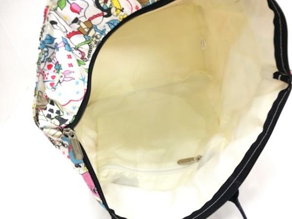 レスポートサック ハンドバッグ 白×黒×マルチ サイズ大/アリス レスポナイロン