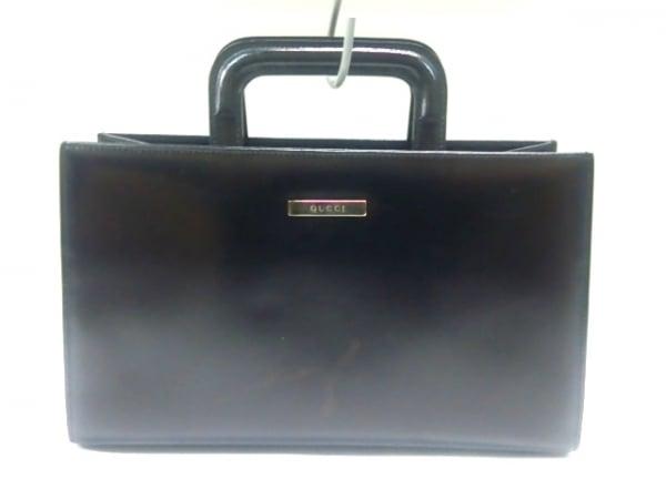 GUCCI(グッチ) ハンドバッグ - - クリア×黒 ビニール×レザー