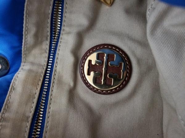 TORY BURCH(トリーバーチ) トートバッグ ブルー×ブラウン ナイロン×レザー