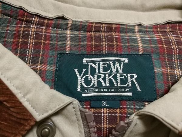 NEW YORKER(ニューヨーカー) コート メンズ ベージュ×ダークブラウン 冬物