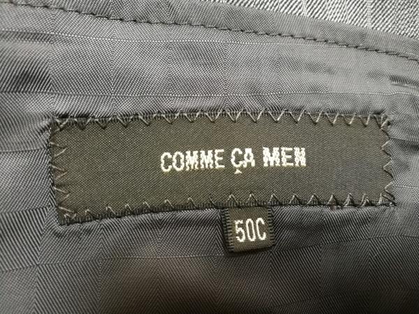 COMME CA MEN(コムサメン) シングルスーツ メンズ グレー×アイボリー×ダークグレー