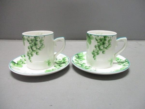 yumi katsura(ユミカツラ) カップ&ソーサー新品同様  グリーン 陶器