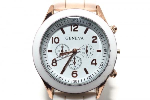 GENEVA QUARTZ(ジェネバクォーツ) 腕時計 - メンズ ラバーベルト 白