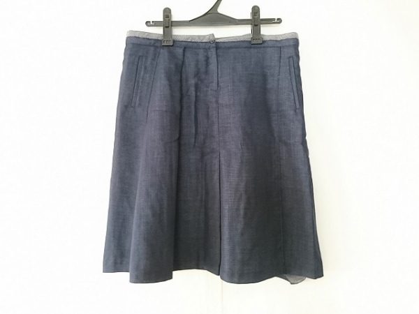 CIVIDINI(チヴィディーニ) スカート サイズ48 XL レディース ネイビー×白×マルチ