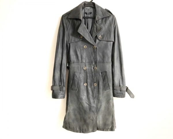 BLUR(ブラー) コート サイズ44 L レディース グレー 春・秋物/ラムレザー