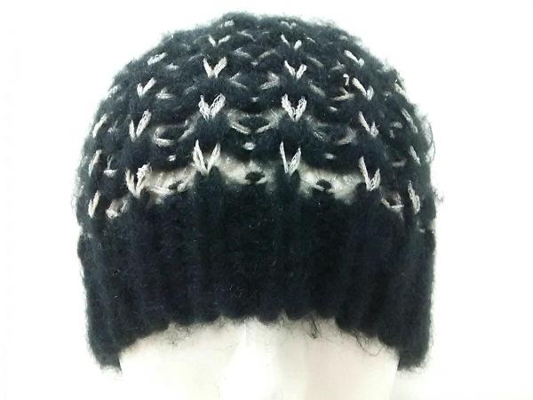 CHRISTYS'(クリスティーズ) ニット帽 FR 黒×シルバー×ベージュ ラメ アクリル