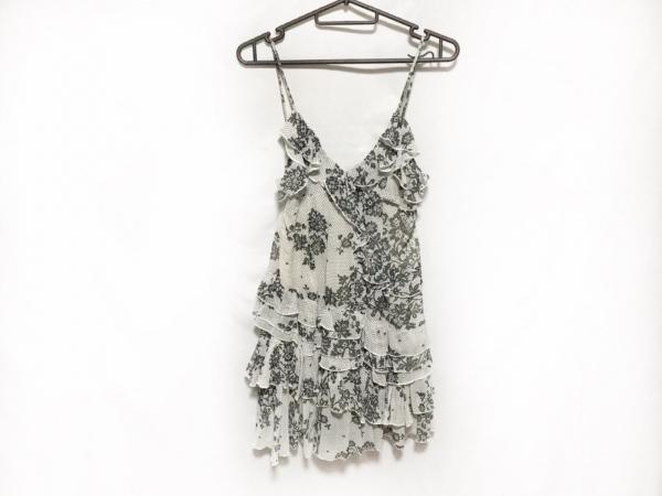 galliano(ガリアーノ) ドレス レディース美品  ライトグレー×黒 花柄/フリル