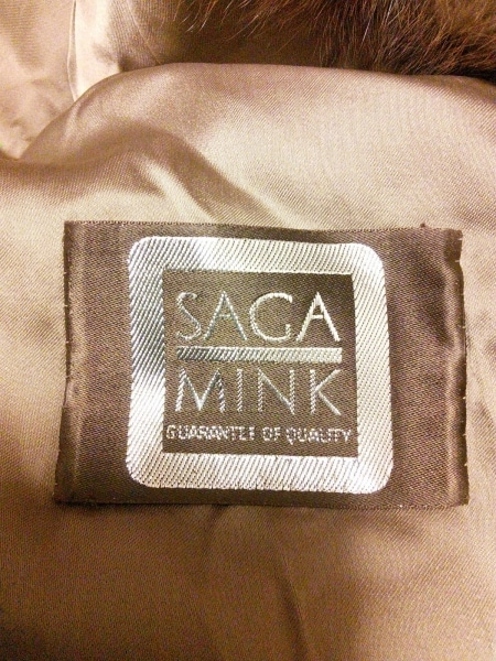 SAGA MINK(サガミンク) コート サイズF レディース美品  ブラウン×ベージュ×マルチ
