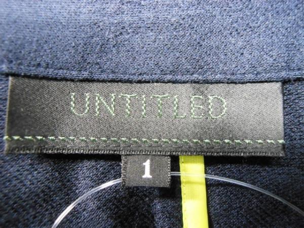 UNTITLED(アンタイトル) ジャケット サイズ1 S レディース ダークネイビー ニット
