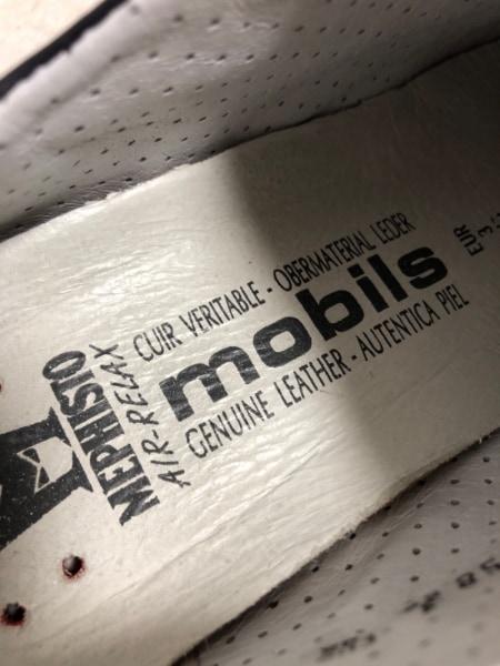 メフィスト スニーカー 5 1/2 レディース ネイビー moblis レザー×スエード