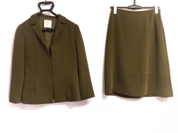 HARDY AMIES(ハーディエイミス) スカートスーツ サイズ9 M レディース カーキ