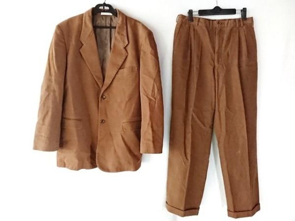 Papas(パパス) シングルスーツ メンズ ダークブラウン ネーム刺繍