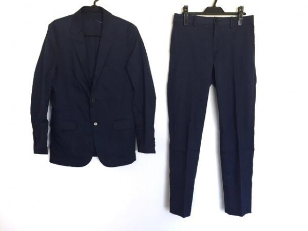 PLS+T(PLST)(プラステ) レディースパンツスーツ サイズS レディース ネイビー