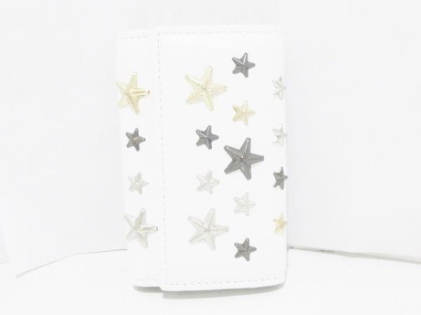 JIMMY CHOO(ジミーチュウ) キーケース美品  ネプチューン 白 6連フック レザー