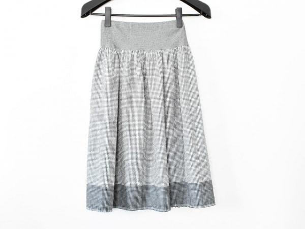 agnes b(アニエスベー) スカート サイズ1 S レディース美品  黒×白 チェック柄