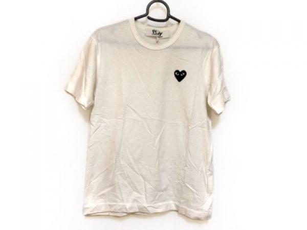 プレイコムデギャルソン 半袖Tシャツ サイズS レディース アイボリー ハート