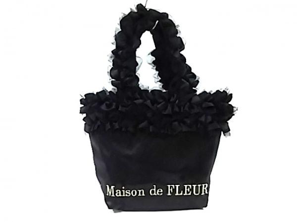 Maison de FLEUR(メゾンドフルール) トートバッグ美品  黒 ナイロン