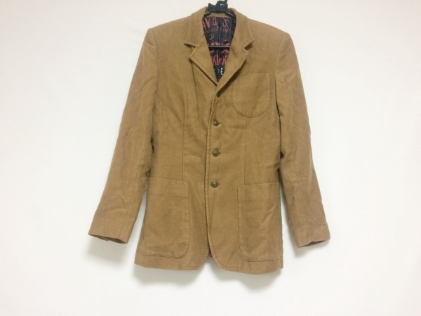 ゴルチエ ジャケット サイズ40 M メンズ ブラウン 肩パッド/春・秋物