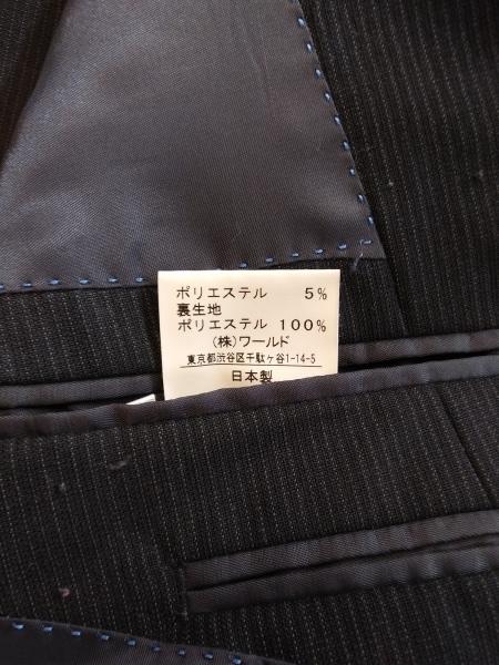 タケオキクチ ジャケット サイズ4 XL メンズ 黒×ライトグレー 肩パッド/ストライプ