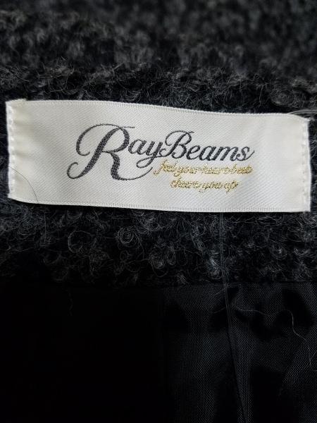 レイビームス コート サイズ0 XS レディース 黒×グレー ショート丈/春・秋物