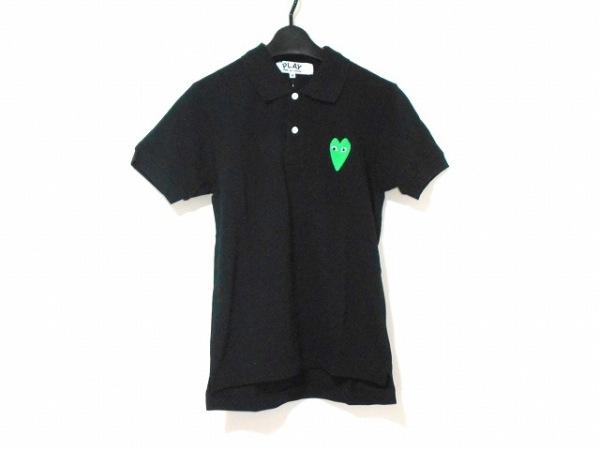 プレイコムデギャルソン 半袖ポロシャツ サイズM レディース 黒