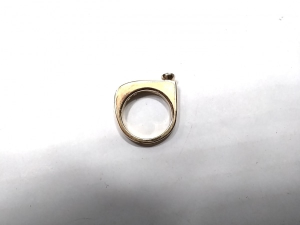 スワロフスキー リング美品  金属素材×スワロフスキークリスタル ゴールド×クリア