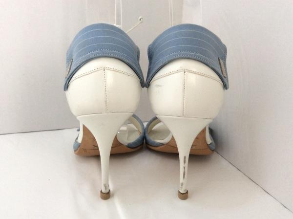 ALEXANDRA NEEL(アレクサンドラニール) パンプス 34 1/2 レディース ライトブルー×白