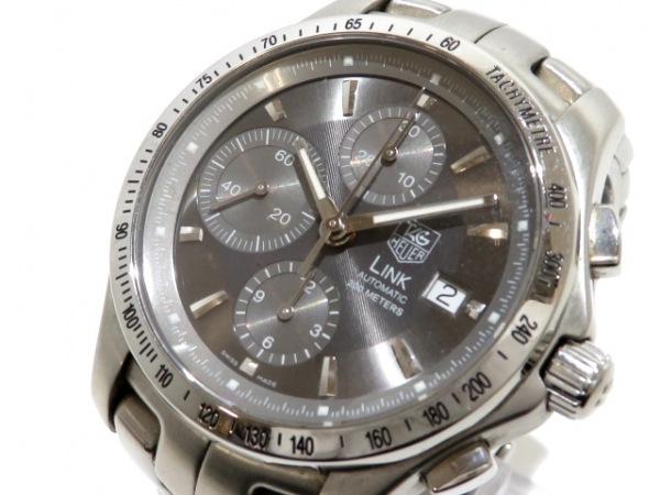 タグホイヤー 腕時計 リンククロノ CJF2115 メンズ SS/クロノグラフ グレー