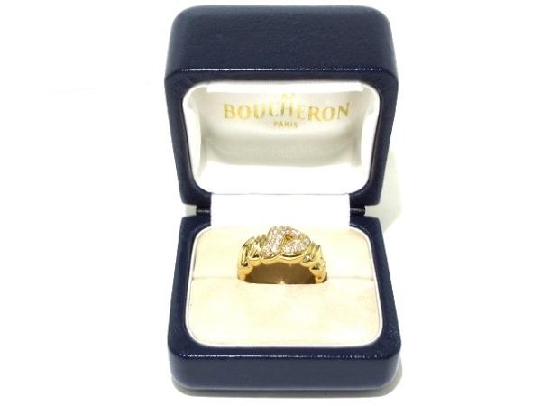 BOUCHERON(ブシュロン) リング 約56号美品  K18YG×ダイヤモンド