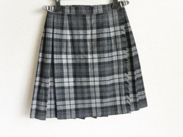 オニール 巻きスカート サイズ36 S レディース美品  グレー×ダークグレー×黒