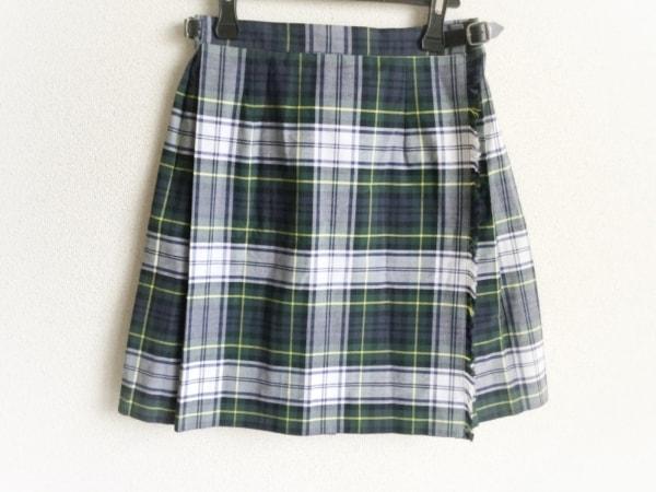オニール 巻きスカート サイズ36 S レディース美品  白×ダークグリーン×ネイビー