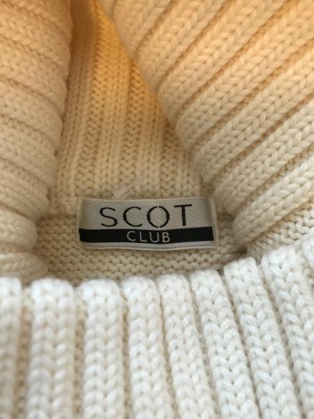 SCOTCLUB(スコットクラブ) ポンチョ サイズ9 M レディース美品  アイボリー ニット