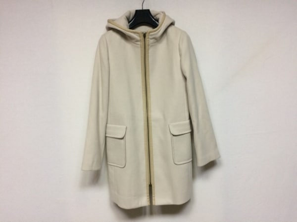 ジュンコシマダ コート サイズ13AR M レディース美品  ライトグレー×ライトブラウン