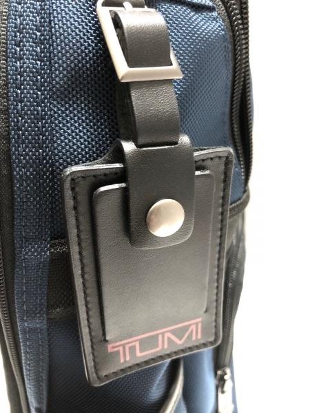 TUMI(トゥミ) リュックサック美品  263162BTD4 ネイビー×黒 TUMIナイロン×レザー