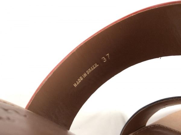 ダイアグラム サンダル 37 レディース美品  ライトブラウン×黒