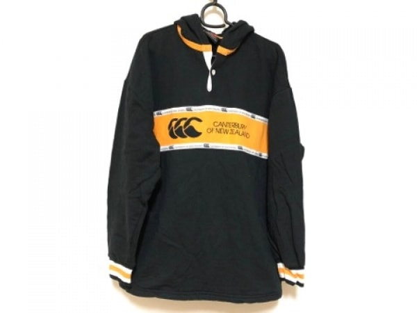 カンタベリーオブニュージーランド トレーナー サイズL メンズ美品  黒×オレンジ×白