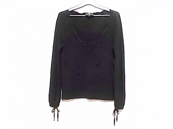 ETRO(エトロ) 長袖セーター サイズ42 M レディース 黒 スパンコール
