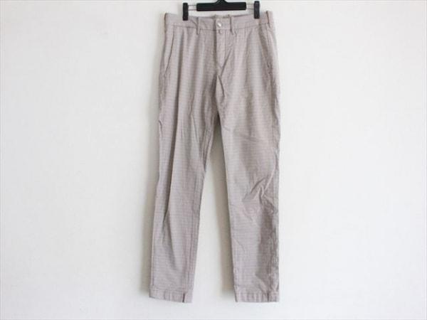 ヤコブコーエン パンツ サイズ33 メンズ ベージュ×ブルー×ブラウン チェック柄