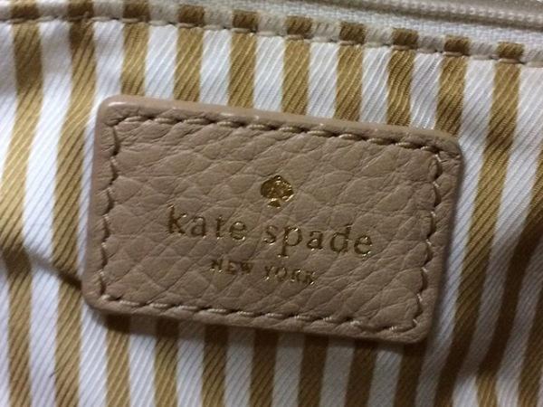 Kate spade(ケイトスペード) ショルダーバッグ PXRU2236 ベージュ 巾着型 レザー