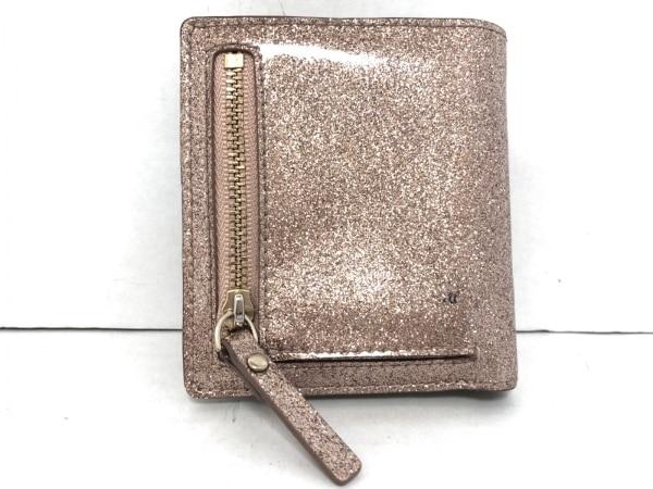 Kate spade(ケイトスペード) 2つ折り財布 PWRU3472 ピンク グリッター/パスケース付き